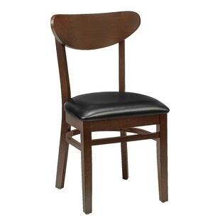 Beechwood Moon Shape Back Seat Upholstered Dining Chair