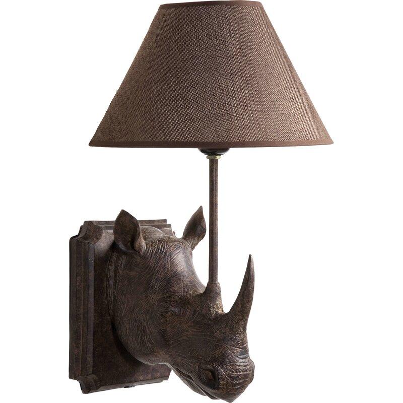 kare design 1 flammige wandleuchte mit arm rhino. Black Bedroom Furniture Sets. Home Design Ideas