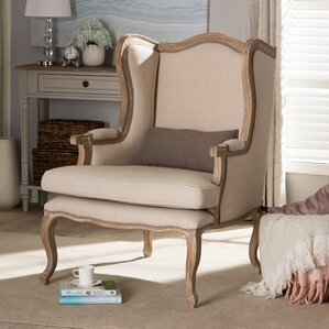 Baxton Studio Auvergne Wingback Chair by Wholesale Interiors