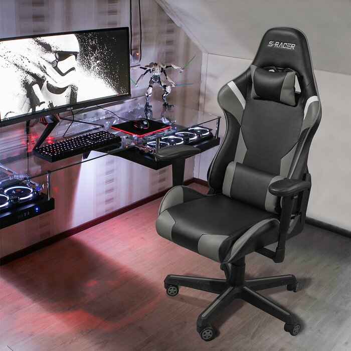 Awe Inspiring High Back Pu Leather Computer Racing Style Gaming Chair Ncnpc Chair Design For Home Ncnpcorg