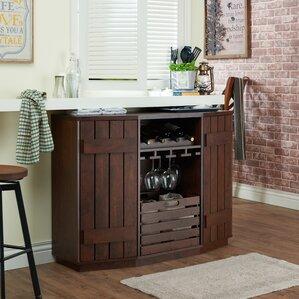 slatted cabinet wine server - Wine Credenza
