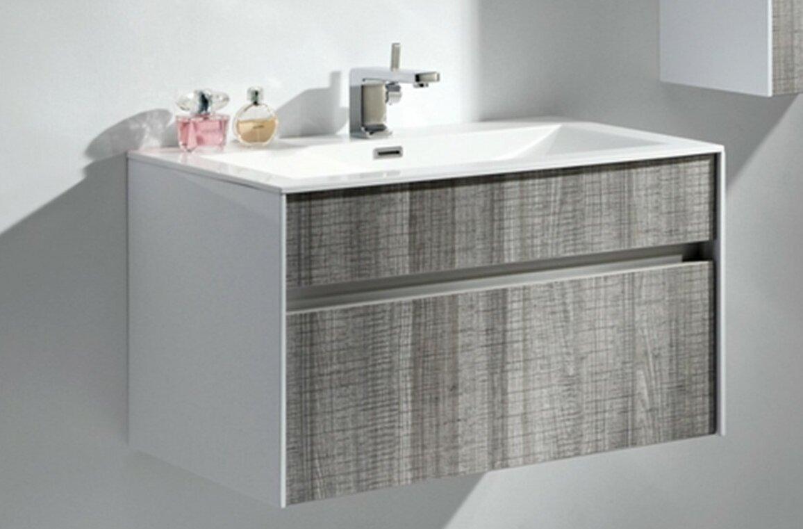 Modern bathroom cabinet - Brockman 24 Single Modern Bathroom Vanity Set