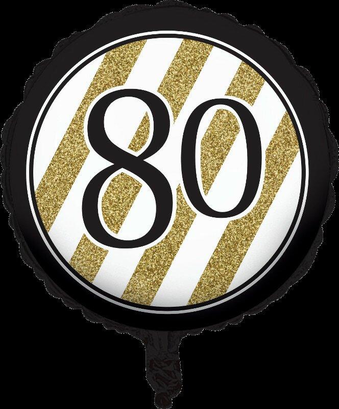 Creative Converting Black And Gold 80th Birthday Mylar Balloon Wayfair