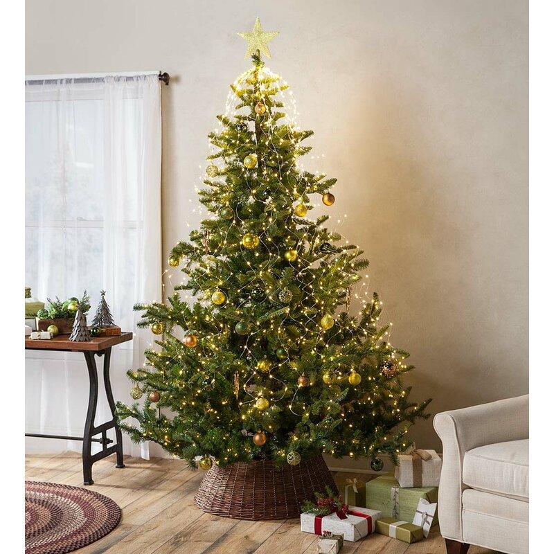 Christmas Tree Nordmann Fir: Plow & Hearth Nordmann Green Fir Artificial Christmas Tree