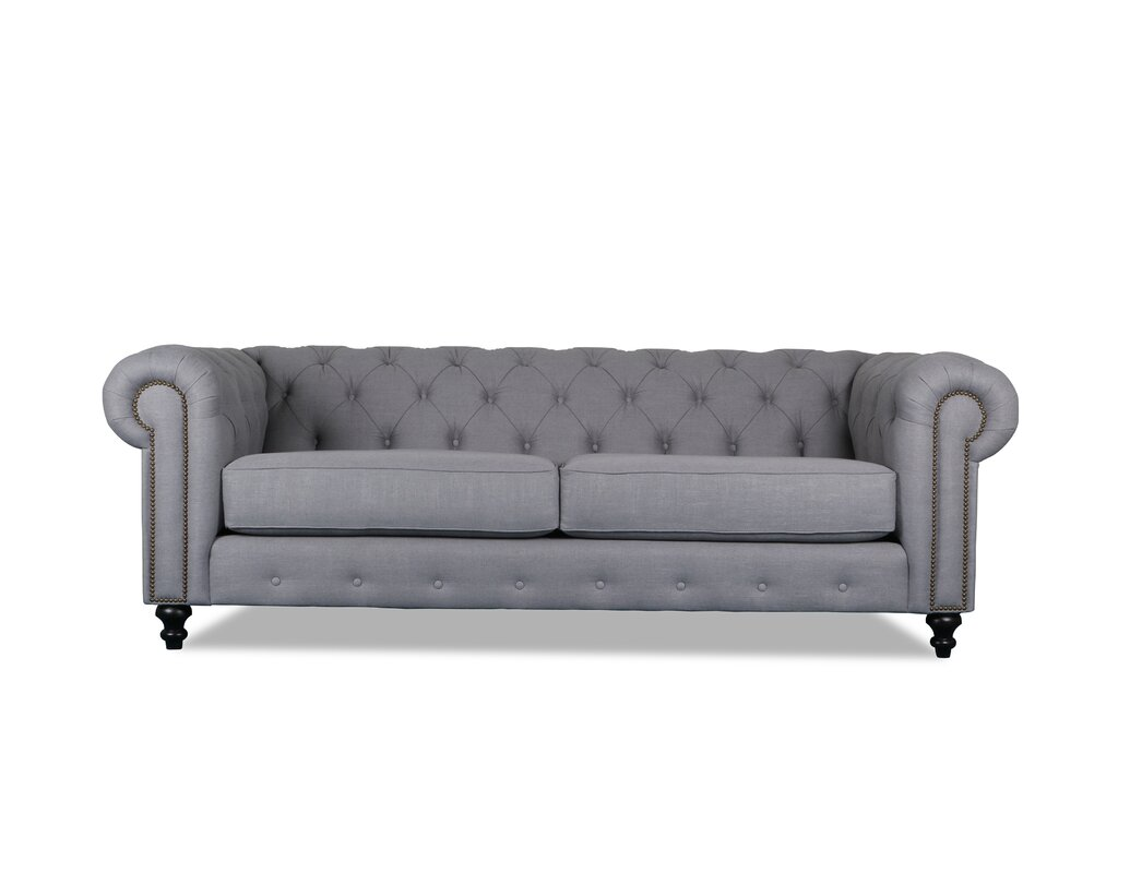 """South Cone Home Hanover Tufted 90"""" Chesterfield Sofa & Reviews"""