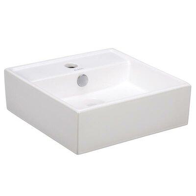 Porcelain 15 Wall Mount Bathroom Sink