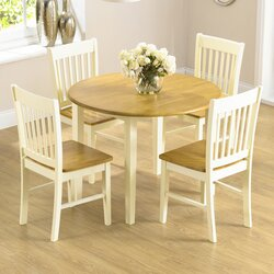 4 Chair Dining Sets august grove orkneys folding dining set with 4 chairs & reviews