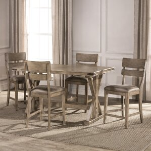 Rowtag 5 Piece Counter Height Dining Set by Loon Peak