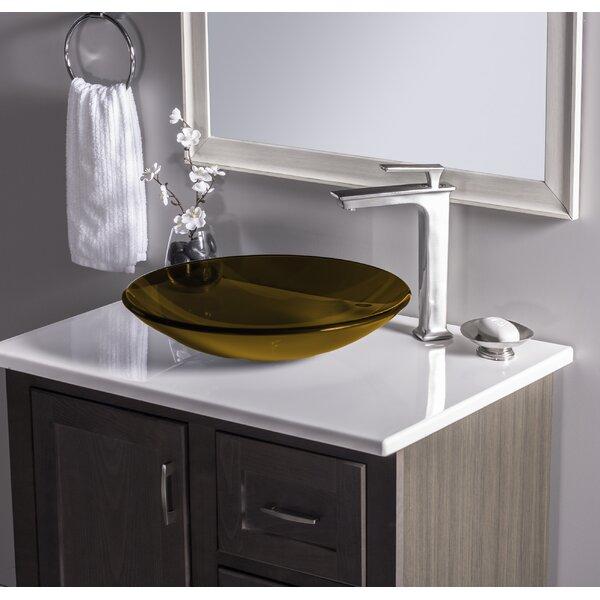 Novatto Low Profile Glass Circular Vessel Bathroom Sink & Reviews | Wayfair