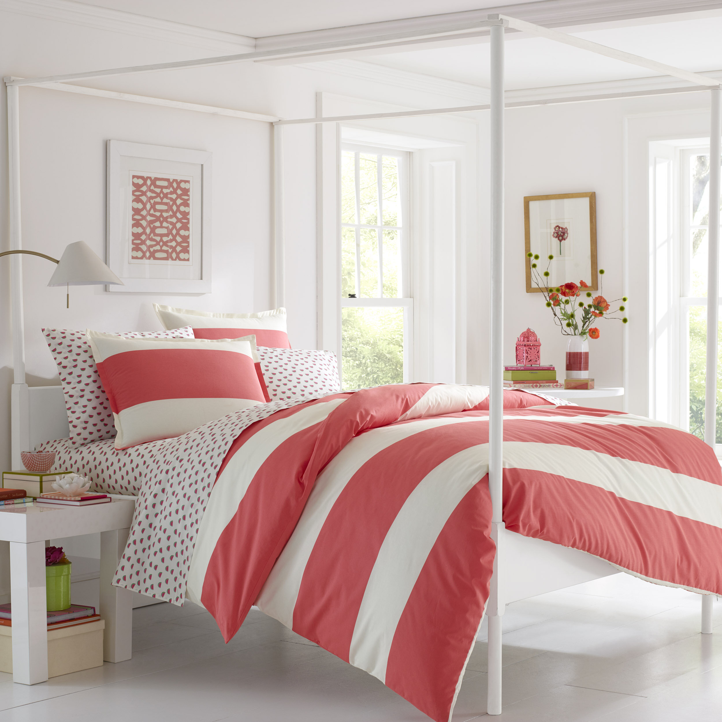Bay Isle Home Delaware 100% Cotton Reversible Duvet Cover Set   Wayfair