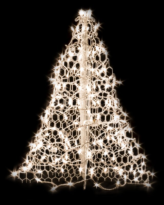 Mini Tree With Lights Part - 47: Crab Pot Christmas Tree® With Incandescent Mini Lights
