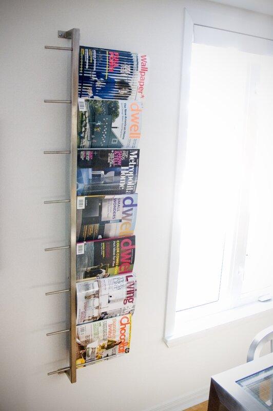 2 Piece Wall Mounted Magazine Rack. Gus Modern 2 Piece Wall Mounted Magazine Rack   Reviews   Wayfair
