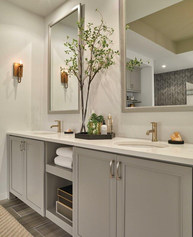 delta trinsic® bathroom single handle centerset bathroom faucet