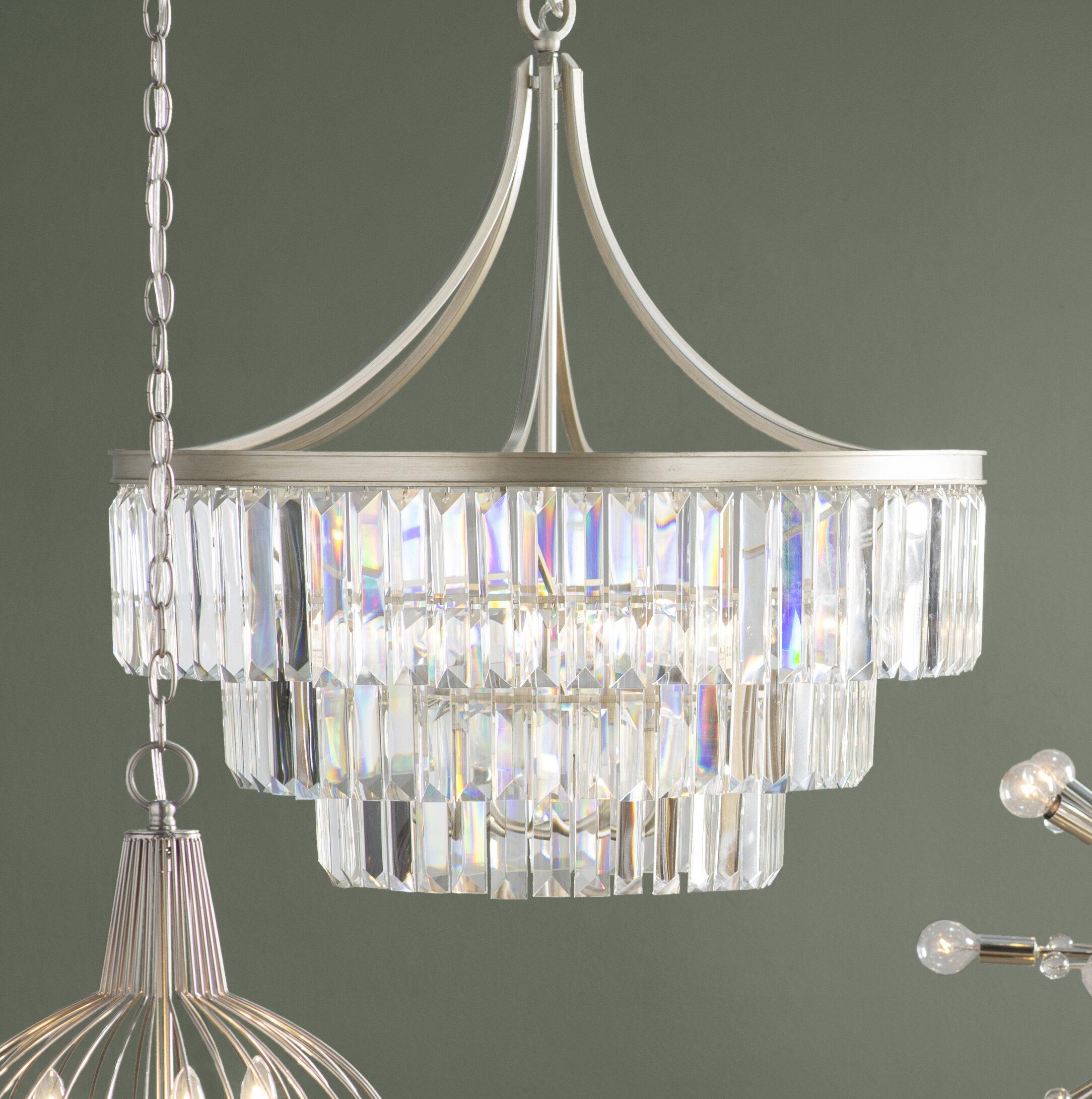 House of Hampton Eggar 6 Light Crystal Chandelier & Reviews