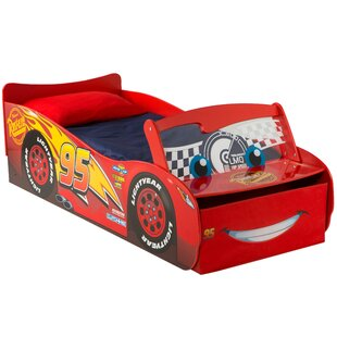 Disney Cars Lightening McQueen Toddler Car Bed with Storage Drawers and Light Up Windscreen by Cars
