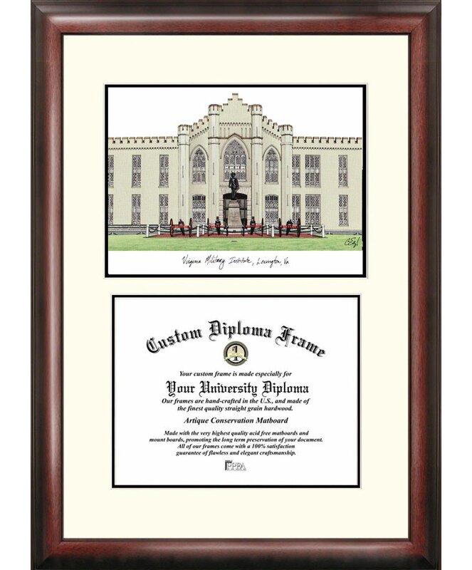 Campus Images NCAA Virginia Military Institute Scholar Diploma ...