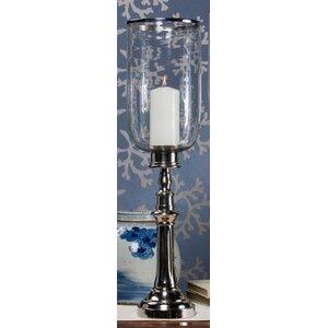 Column Aluminum/Glass Hurricane