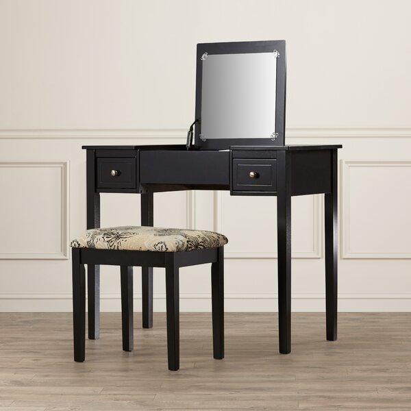 Vanity And Mirror Set Part - 39: Wayfair.com