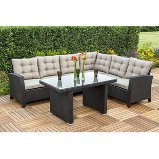 Perfect Sitzer Ecksofaset Salerno Aus Polyrattan Mit Polster With Rattan  Gartenmbel Set Sale