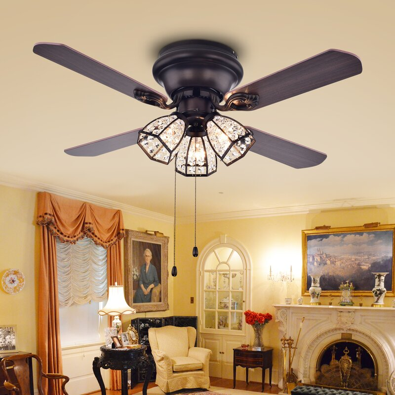 Bedroom Ceiling Fans With Lights. 42  Tarudor 4 Blade Ceiling Fan Warehouse of Tiffany Reviews