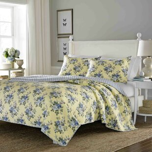 Linley  Cotton Reversible Quilt Set By Laura Ashley Home