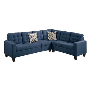 Prescot Modular Sectional  sc 1 st  Wayfair : navy sectional sofa - Sectionals, Sofas & Couches