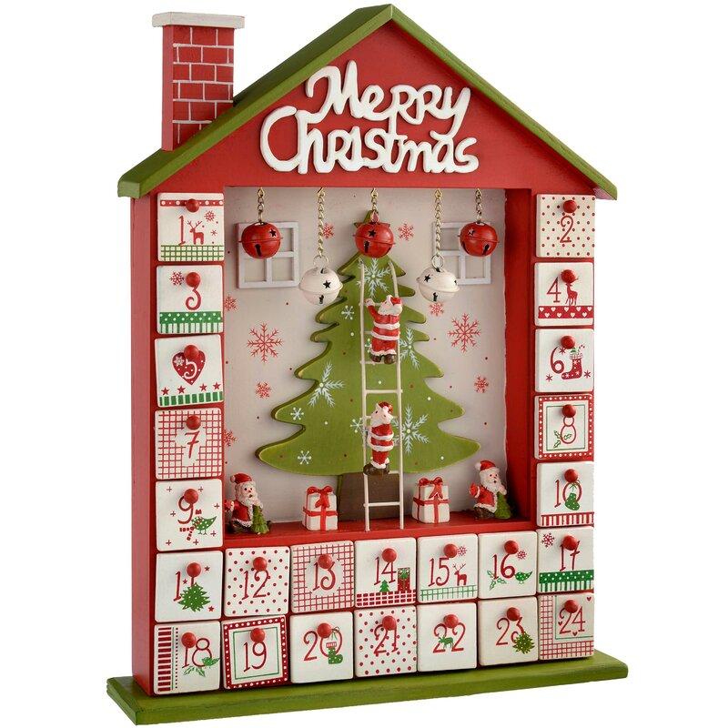 The Seasonal Aisle House Wooden Advent Calendar Reviews Wayfair