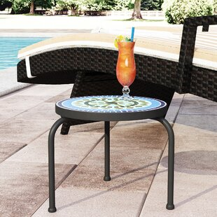 Outdoor concrete side table wayfair sebago outdoor side table watchthetrailerfo