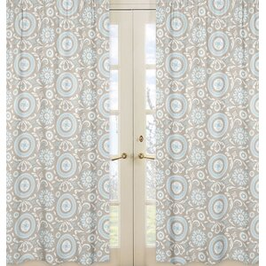 Hayden Damask Semi-Sheer Rod pocket Curtain Panels (Set of 2)
