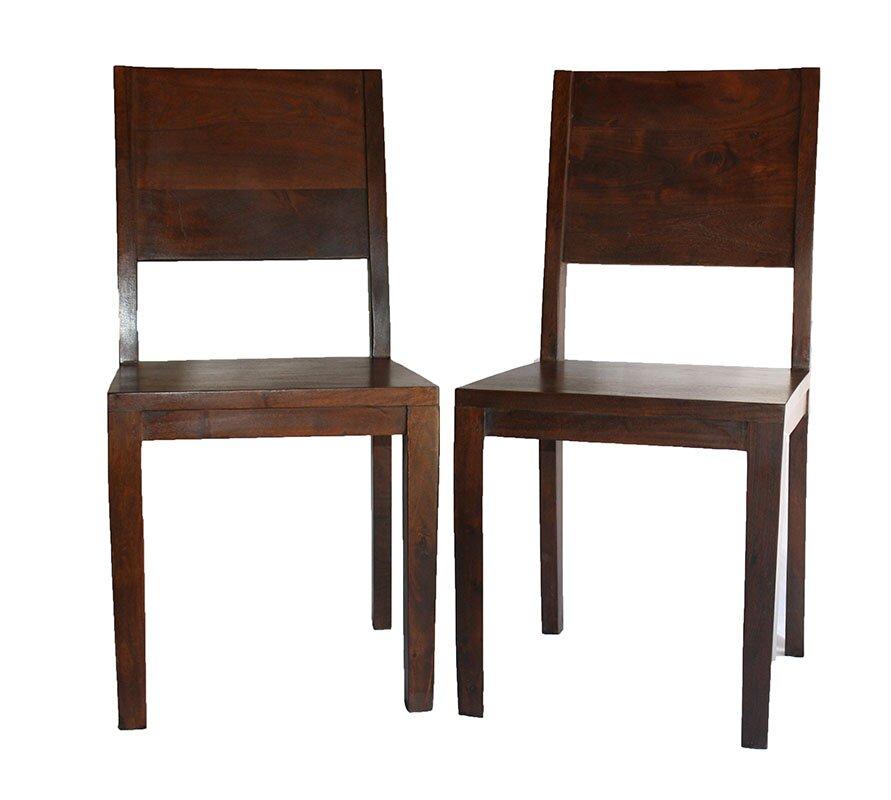 Good Simple Acacia Wood Side Chair