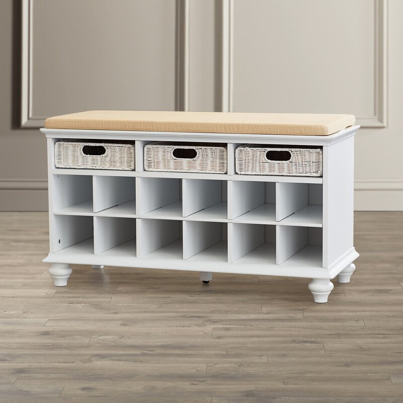 2175 Traditional 6 Pair Shoe Storage Bench