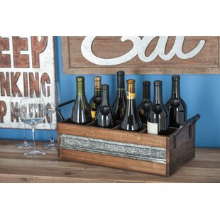 Cutrer Wood/Metal 8 Tabletop Wine Bottle Rack