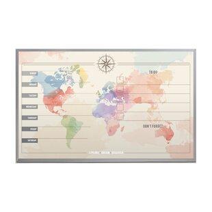 World Map Cork Board Wayfair Ca