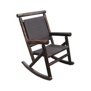 Perfect Char Log Rattan Single Rocking Chair