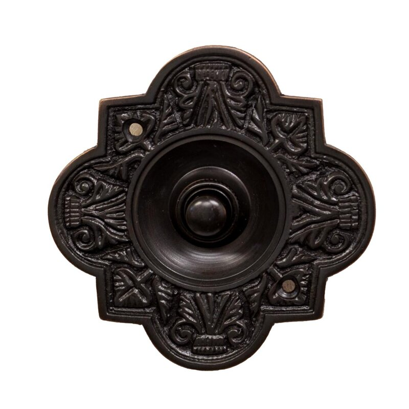 Ornate Oval Doorbell Button