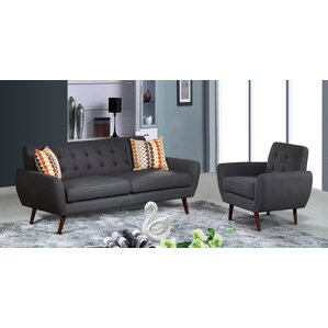 Diara Contemporary 4 Piece Living Room Set by Zipcode Design