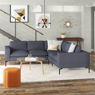 Modern & Contemporary Small Curved Sectional Sofa | AllModern