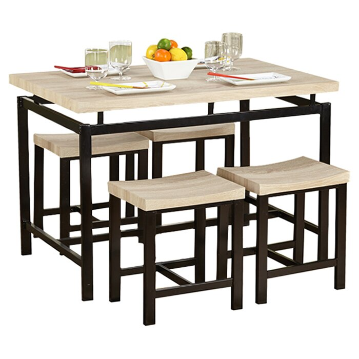 5 Piece Delano Counter Dining Set