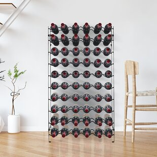 Mosquera Freestanding 60 Bottle Floor Wine Rack