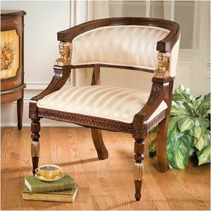 Egyptian Revival Fabric Barrel Chair by Design Toscano