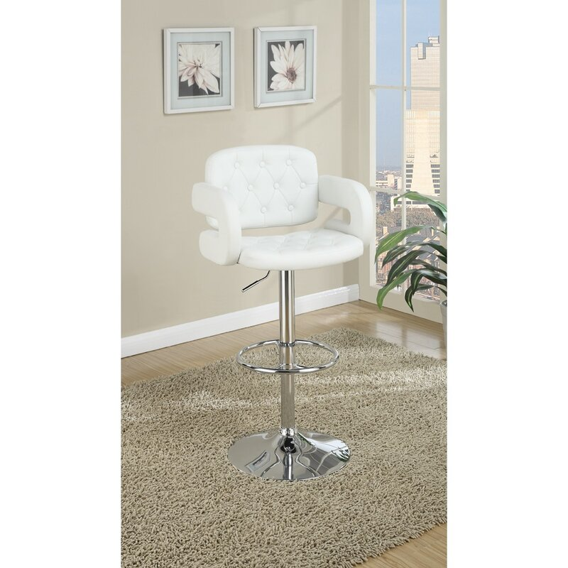 Charters Towers Tufted Seat And Back Adjustable Height Bar Stool