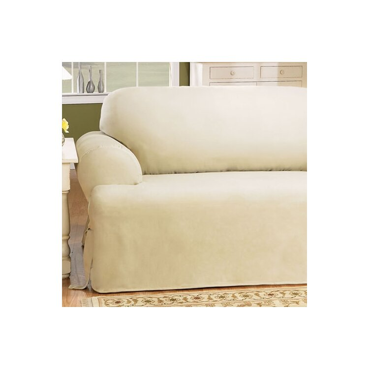 Sure Fit Cotton Duck T Cushion Loveseat Slipcover Wayfair