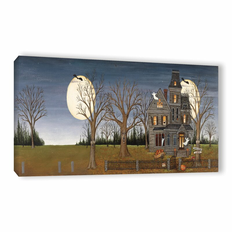 0bc273034c The Holiday Aisle Haunted House Painting Print on Wrapped Canvas ...