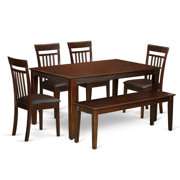 Outstanding Smyrna 6 Piece Solid Wood Dining Set Beutiful Home Inspiration Xortanetmahrainfo