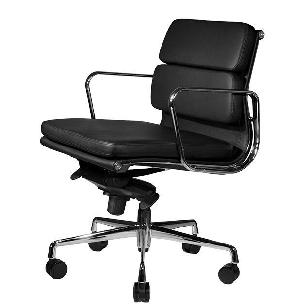 Clyde Mid Back Leather Desk Chair