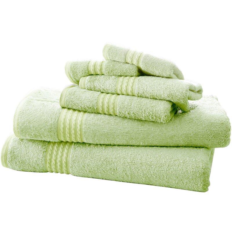 82d7099870a0 Baumgarten 6 Piece Rayon from Bamboo Towel Set   Reviews