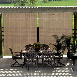Semi Sheer Mocha Outside Roller Shade
