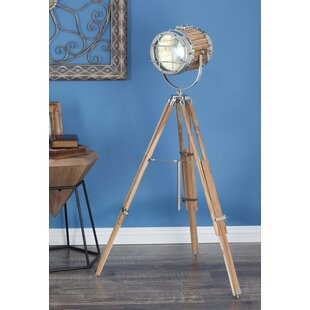 Dark wood tripod floor lamp wayfair aluminum wood 52 tripod floor lamp aloadofball Image collections