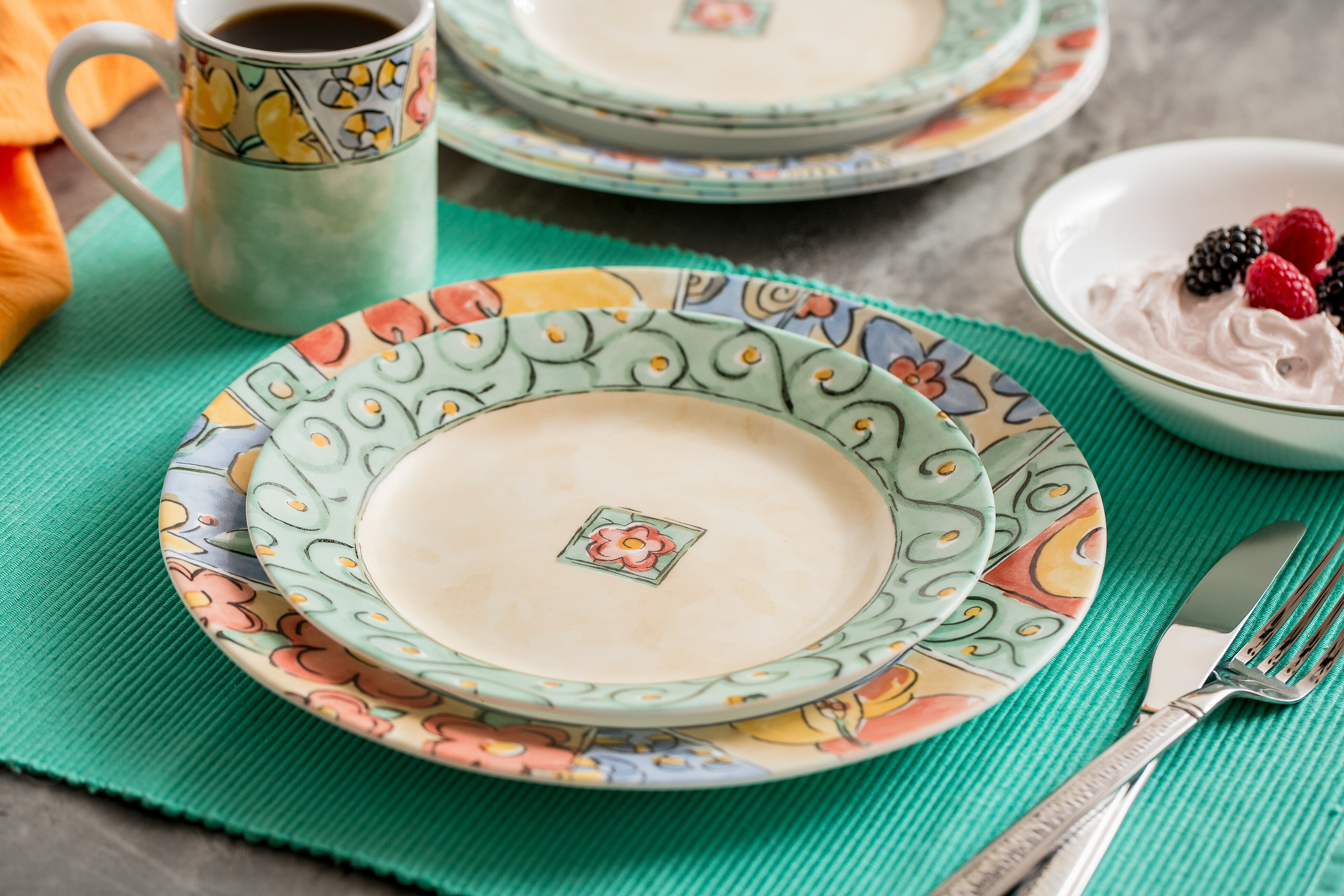 Corelle Impressions Watercolors 16 Piece Dinnerware Set, Service for 4 &  Reviews | Wayfair
