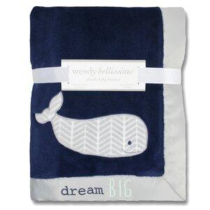 Landon Plush Whale Throw Blanket
